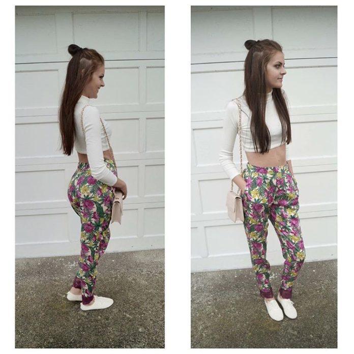 Spodnie w kwiaty – stylizacje na letnie wieczory